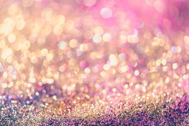 Bokeh Glitter Oro Colorful Sfondo Sfocato Astratta Per Anniversario