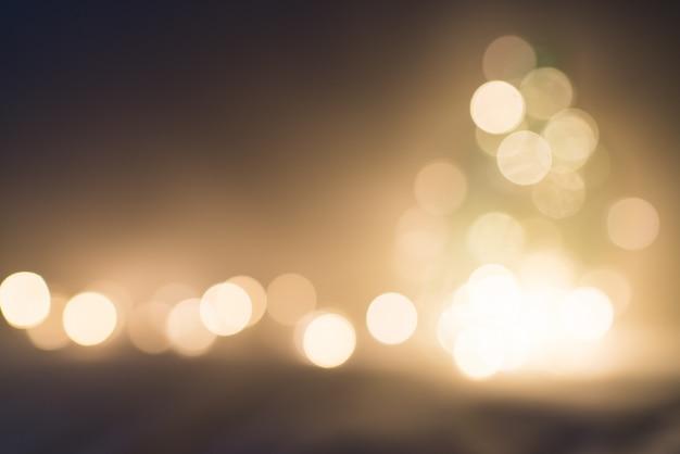 Bokeh oro. estratto glitterato. Foto Premium