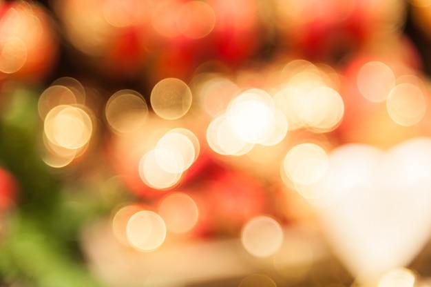 Bokeh rosso e bianco Foto Premium