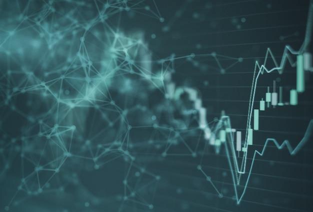 Borsa del grafico di investimento del grafico del mercato azionario Foto Premium