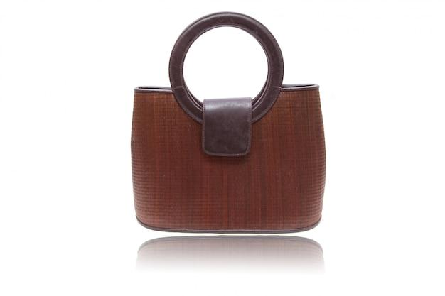Borsa donna in legno Foto Premium