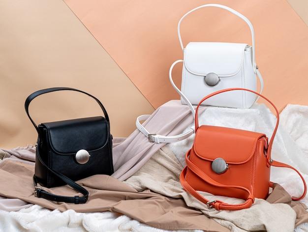 Borse moda bella donna Foto Premium