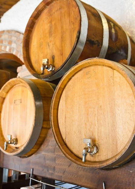 Botti di vino Foto Premium
