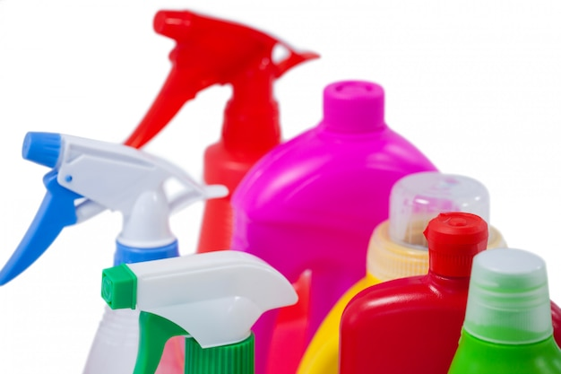 Bottiglie e contenitori detergenti Foto Premium