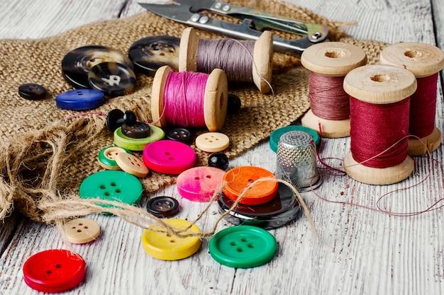 Bottoni in plastica colorati Foto Premium