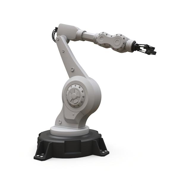 Braccio robotizzato per qualsiasi lavoro in fabbrica o produzione. attrezzature meccatroniche per compiti complessi Foto Premium