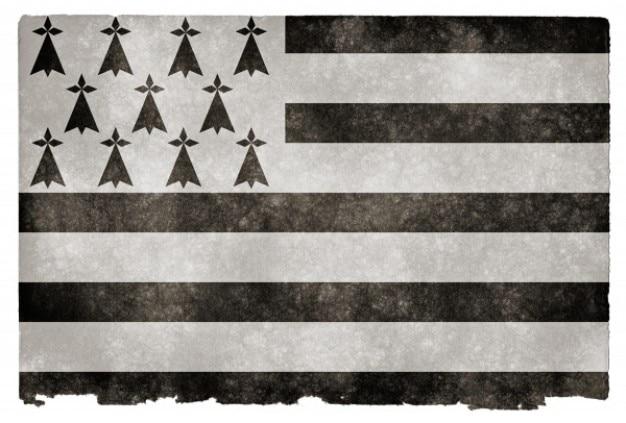 Brittany grunge flag Foto Gratuite