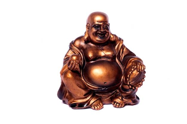 Buddha su bianco Foto Premium