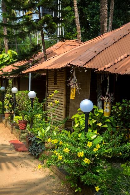 Bungalow a varkala nello stato del kerala, india Foto Premium