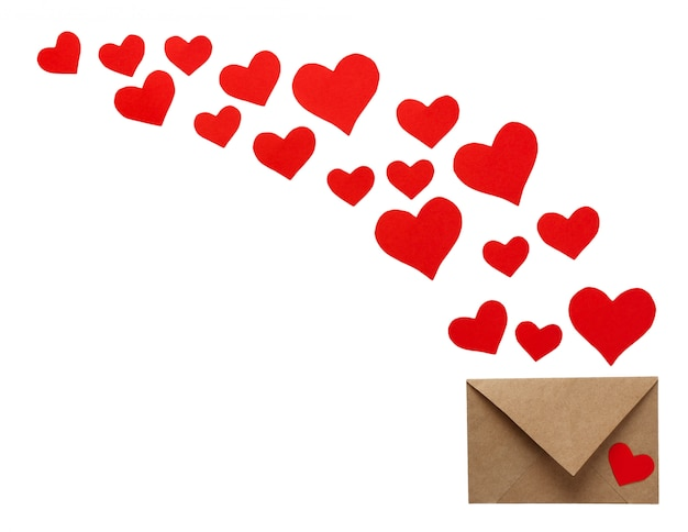 Buste variopinte della cartolina d'auguri di san valentino con cuore Foto Premium