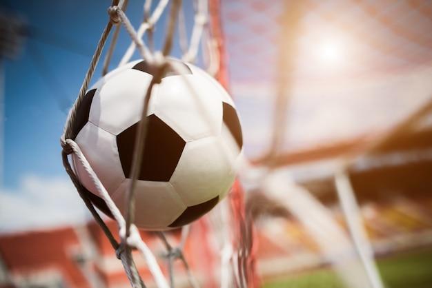 Calcio in concetto di successo obiettivo Foto Gratuite