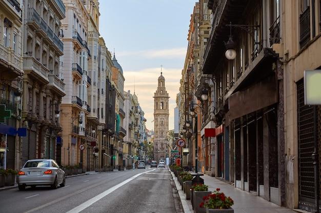 Calle de la paz di valencia Foto Premium