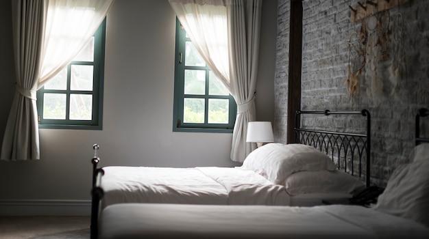Camera da letto confortevole relax concetto di coperta ...