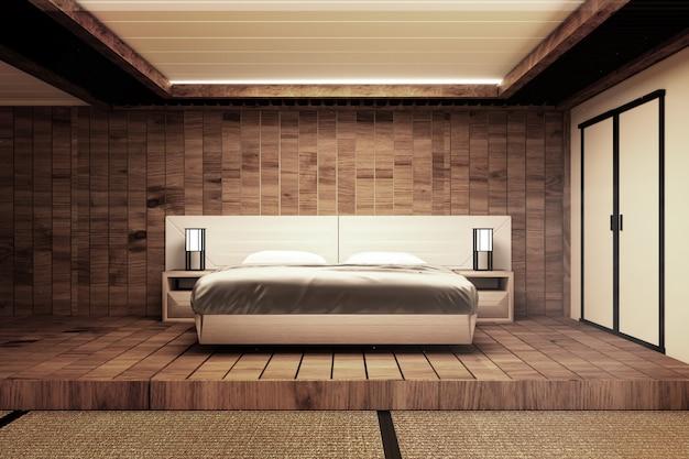 Camera da letto in stile giapponese Foto Premium