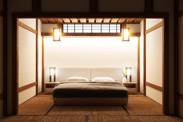Camera da letto originale - design d\'interni giapponese. rendering ...
