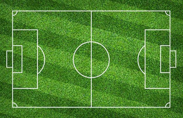 Campo di calcio o campo di calcio per lo sfondo. prato verde per creare gioco. Foto Premium