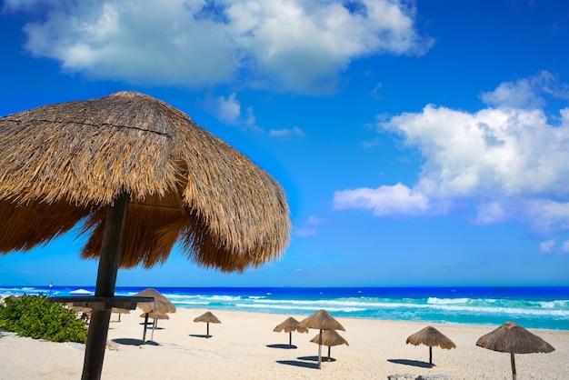 Cancun delfines beach in hotel zone mexico Foto Premium