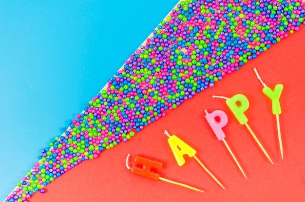 Candele colorate di compleanno Foto Gratuite