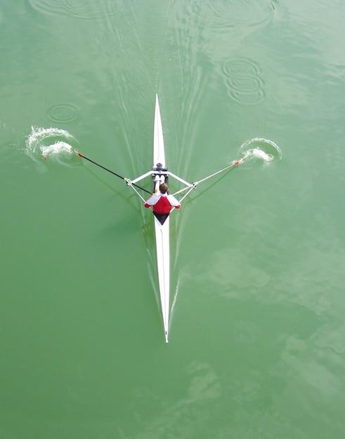 Canottaggio in kayak Foto Premium