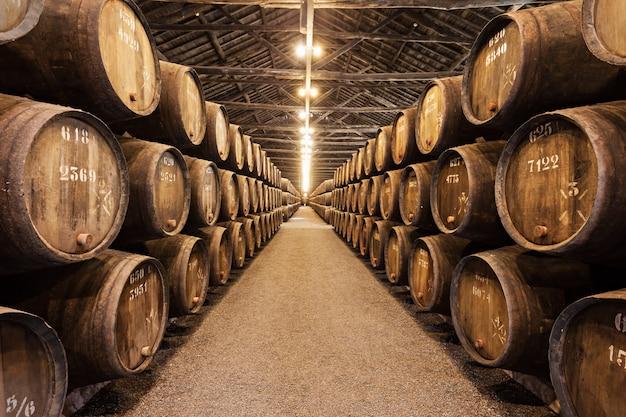 Cantina per vini, porto Foto Premium