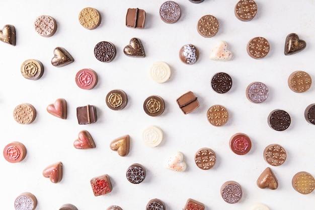 Caramelle di cioccolato san valentino Foto Premium