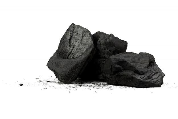 Carbone di legna naturale il carbone di legna in polvere di bambù ha proprietà medicinali con carbone tradizionale Foto Premium