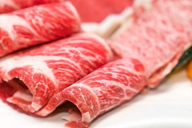 Carni bovine fresche raw Foto Gratuite