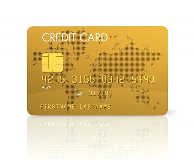 Carta di credito oro Foto Premium