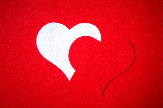 Carta di san valentino. messa a fuoco selettiva, sfondo con spazio di copia. Foto Premium
