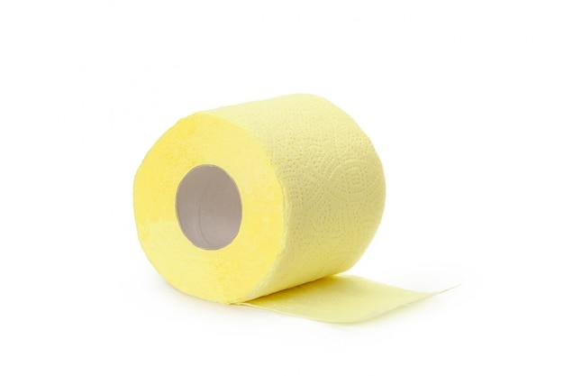 Carta igienica isolato su bianco Foto Premium