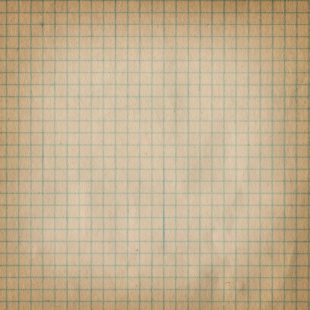 Carta millimetrata sporca d'annata. Foto Premium