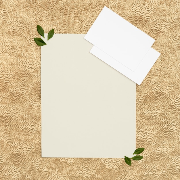 Cartolina d'auguri di nozze laici piatta con spazio di copia Foto Gratuite