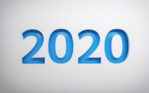 Cartolina d'auguri semplice 2020 Foto Premium