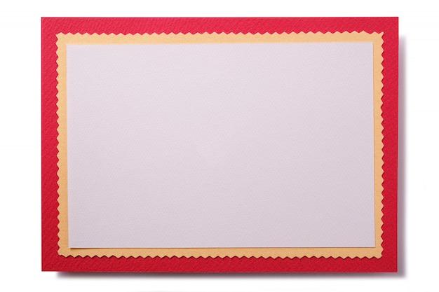 Cartolina di natale con bordo rosso Foto Gratuite