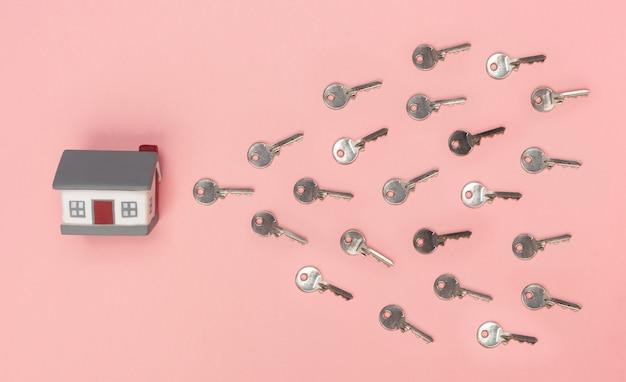 Casa con le chiavi che simboleggiano l'uovo e lo sperma. Foto Premium