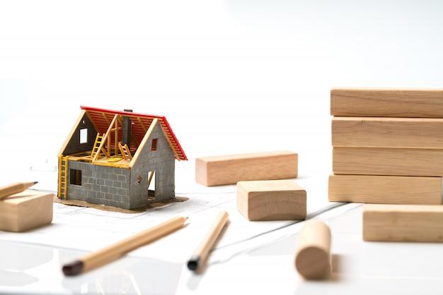 Casa e complesso residenziale con progetto Foto Premium