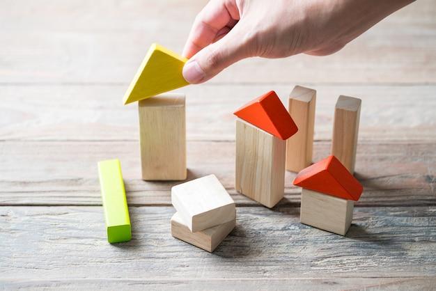 Casa in legno e complesso residenziale Foto Premium