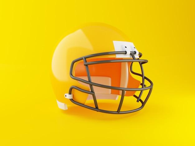 Casco di football americano 3d. concetto di sport Foto Premium
