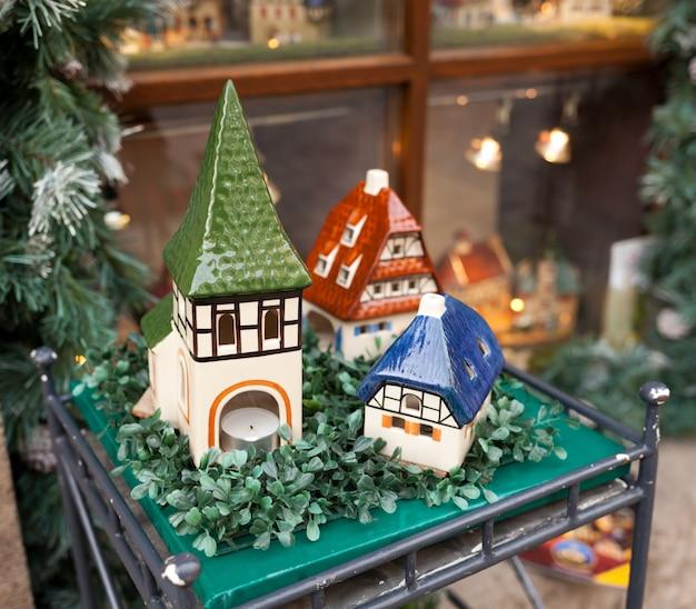 Case di porcellana, souvenir tipici rothenburg ob der tauber Foto Premium