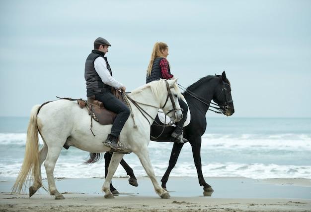 Cavalieri e cavalli Foto Premium