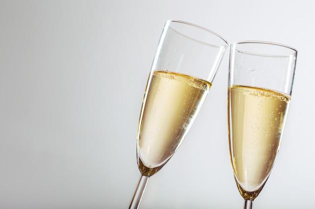 Celebrazione di capodanno con champagne Foto Premium