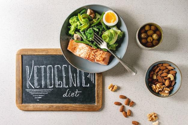 Cena dietetica chetogenica Foto Premium