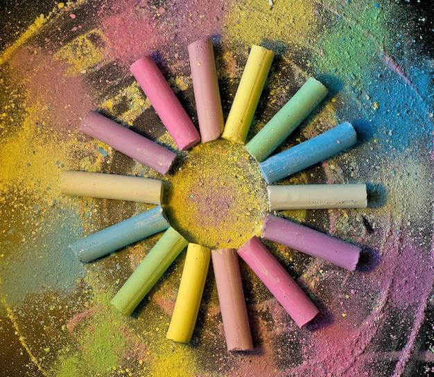Cerchio da gesso colorato Foto Premium