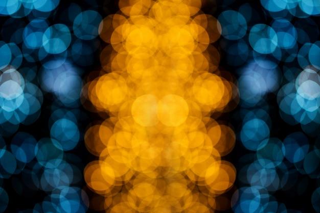 Cerchio di bokeh, bellissimi colori astratti per lo sfondo di natale Foto Premium