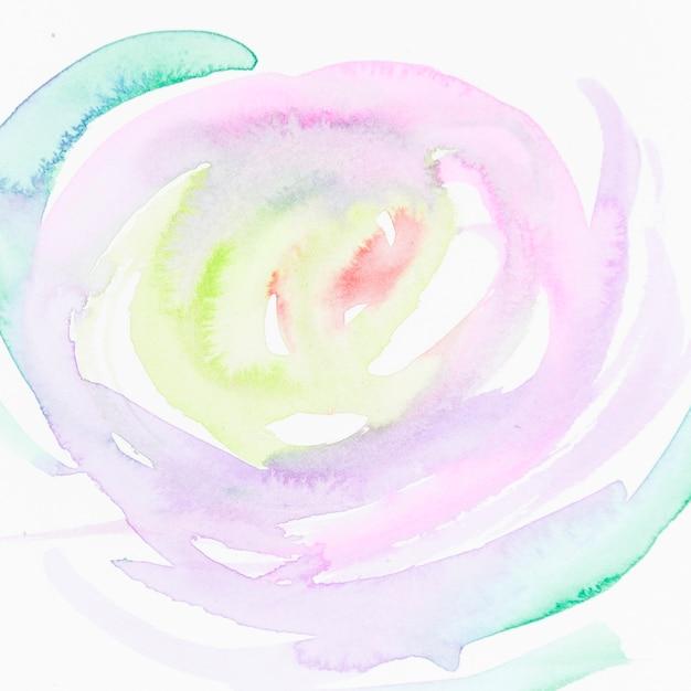Cerchio fatto con pennellata di colore diverso isolato su sfondo bianco Foto Gratuite