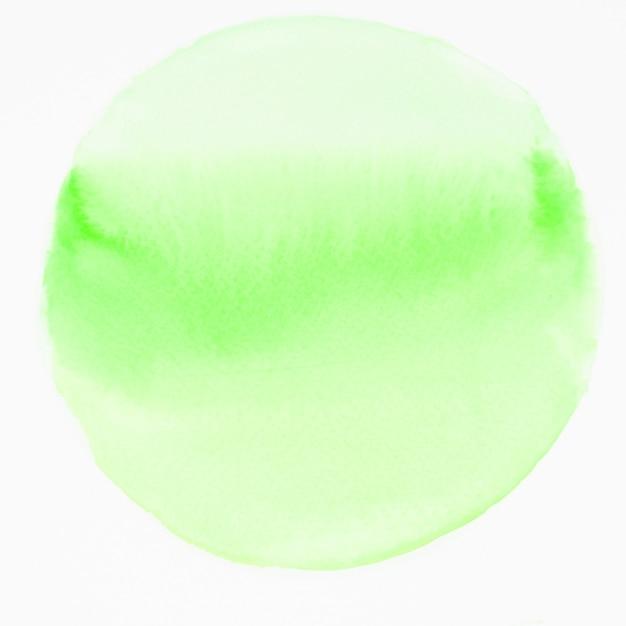 Cerchio verde dell'acquerello isolato su priorità bassa bianca Foto Gratuite