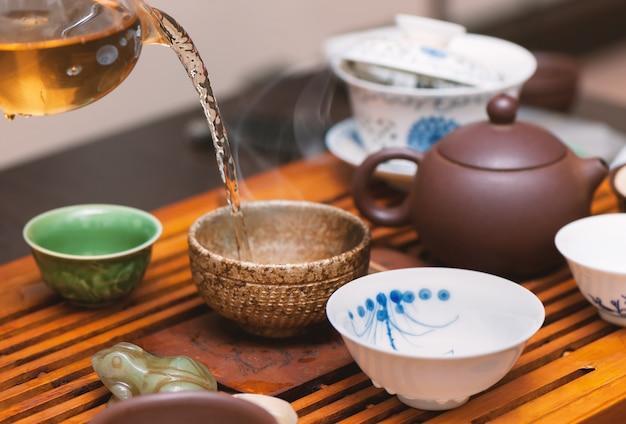 Cerimonia del tè cinese. Foto Premium