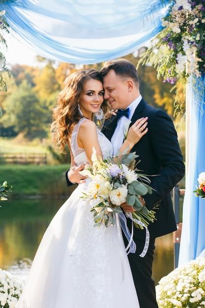 Cerimonia di matrimonio alla moda creativa Foto Premium