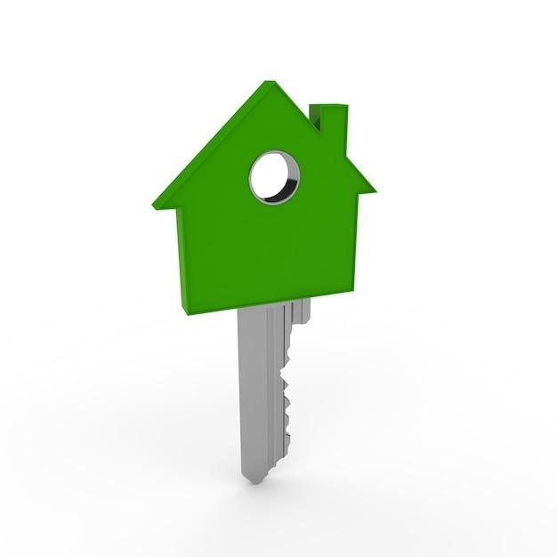 Chiave di casa verde a forma di scaricare foto gratis for Costruttore di casa gratuito
