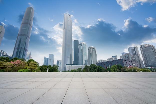 China guangzhou city plaza, centro città costruito. Foto Premium